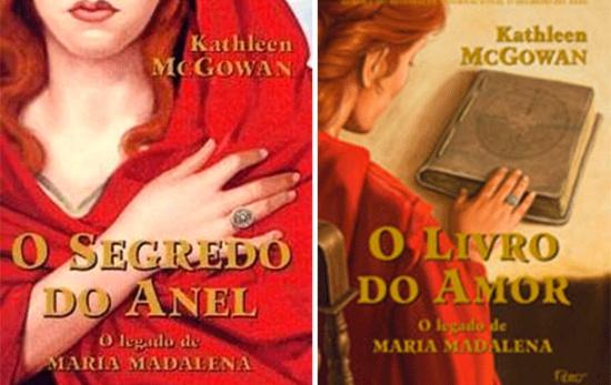 As obras �O segredo do anel� e �O livro do amor�, da trilogia �O legado de Maria Madalena�